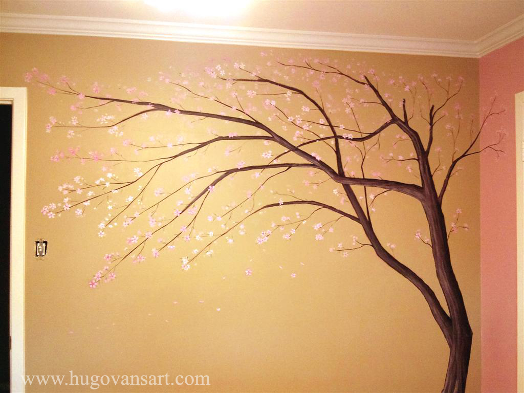 Murals by van for Cherry blossom mural works